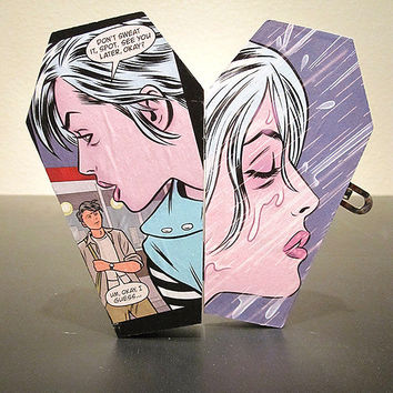 iZombie Comic Coffin Wood Box - Horror Gothic Geek Nerd Trinket Keepsake Box