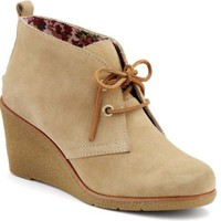 Sperry Top-Sider Harlow Wedge Bootie SandSuede, Size 5.5M  Women's Shoes