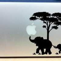 Apple Macbook Vinyl Decal Sticker Laptop Skin Elephant