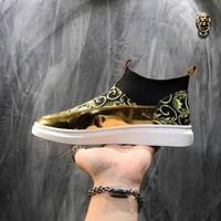 Versace Print Canvas Sneakers Dsu6763 - Best Online Sale