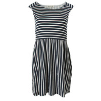 Olive & Oak Womens Striped Sleeveless Casual Dress