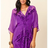 Twelfth Street by Cynthia Vincent - Burnout Caftan Dress