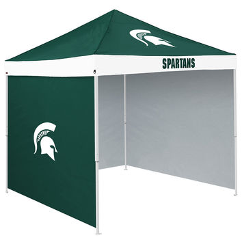 Michigan State Spartans NCAA 9' x 9' Economy 2 Logo Pop-Up Canopy Tailgate Tent