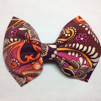 New! Vera Bradley Safari Sunset hair bow (Also offered in: Tutti Frutti, Midnight Blues, Plum Crazy and more)