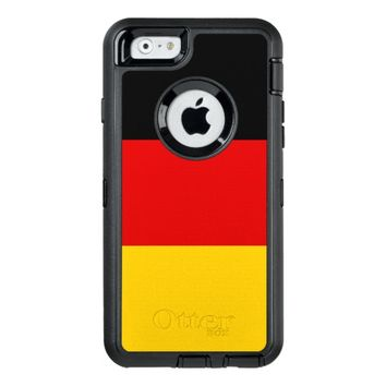 Black Red Gold Stripes OtterBox Defender iPhone Case