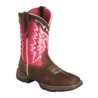 Sheplers: Durango Pink Ribbon Rebel Cowgirl Boots - Square Toe