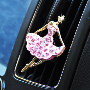 Crystal Dancer Fragrance car Vent Air Freshener outlet Perfume Diffuser, Car Accessories for mother's day gift