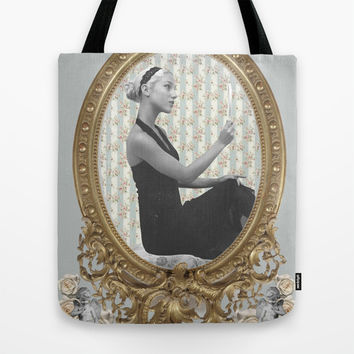 Venus and Her Mirror Tote Bag by Alayna Hanson