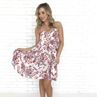 Sing To Me Floral Dress in Ivory