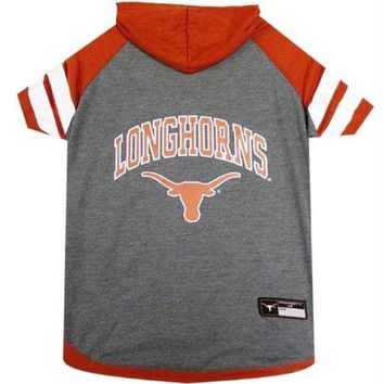 DCCKT9W Texas Longhorns Pet Hoodie T-Shirt