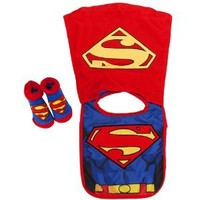 Amazon.com: DC Baby Boys Infant Caped Bib And Bootie Set (Superman): Baby