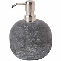 Flint Compact Round Bath or Kitchen Pump Liquid Soap Lotion Dispenser, Marble