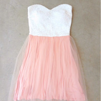 Sugar Peach Party Dress [7273] - $33.60 : Feminine, Bohemian, & Vintage Inspired Clothing at Affordable Prices, deloom