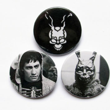 "Donnie Darko 3x1.5"" pinback button badge set from Stickerama"