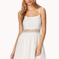 FOREVER 21 Sweet Lace Dress Ivory Large
