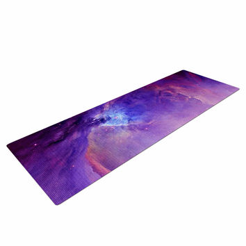"Viviana Gonzalez ""Orion Nebula"" Purple Blue Yoga Mat"