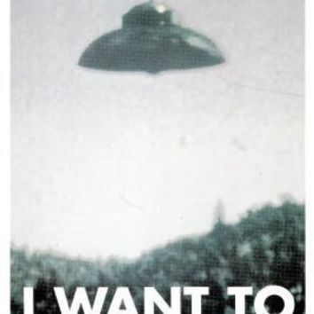 I Want to Believe Poster X-Files UFO