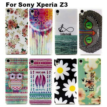 TPU Soft Case with Back Print for Sony Xperia Z3
