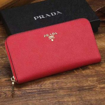 PEAPJ3V Prada Women Fashion Leather Zipper Wallet Purse-20