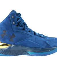 Under Armour Men's Curry 1 Mid Lux Suede Pack Navy Gold
