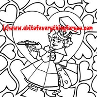 queen of hearts pattern art coloring page printable art download digital kids colouring pages mother goose fairytale image graphics nursery