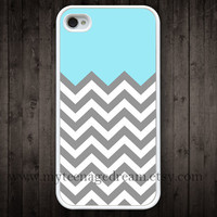 chevron iPhone 4 Case, iphone 4s case, gray chevron iPhone white Hard Case for iphone 4 4s