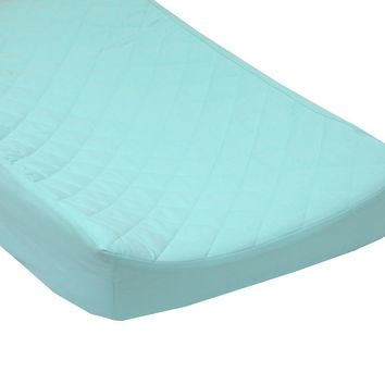 Solid Cotton Quilted Changing Pad Cover - Fits Standard Contoured Changing Pads