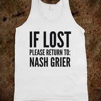 IF LOST PLEASE RETURN TO NASH GRIER TANK TOP (IDC101835)
