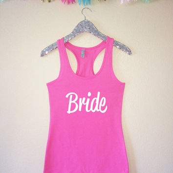 Bride Tank Top, Bridesmaid Tank Top, Maid of Honor Tank Top, Bridal Party Tank Tops, Bachelorette Party Tank Tops, Bridesmaid Gifts, Bride