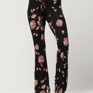 PATRONS OF PEACE Floral Womens Flare Pants | Pants + Joggers