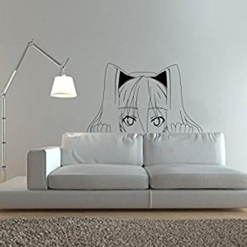 vinyl wall decal sticker Anime Comics girl weapons Japanese Kids Bedroom a79