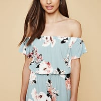 Kendall and Kylie Floral Off-The-Shoulder Romper at PacSun.com