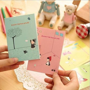 ICIK272 WESON Cute Notebook Red Hat Girl Agenda Week Plan Diary Day Planner Journal Record Stationery Office School Supplies
