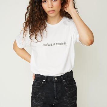 Braless & Flawless Tee - White
