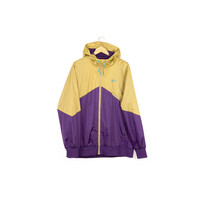 NIKE purple & gold jacket / like new /  lightweight windbreaker / rain parka / sb 6.0 / windrunner / outerwear / deadstock / mens l - xl