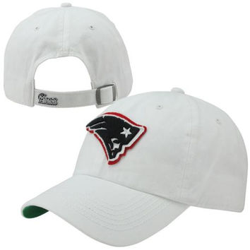 47 Brand New England Patriots Wallace Clean Up Adjustable Hat - White
