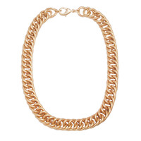 Choker Laconic Golden Color Chain Statement Necklace