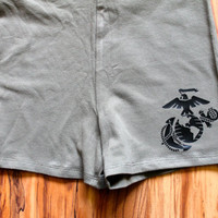 USMC green spandex shorts!