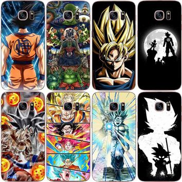 Dragon Ball z goku DragonBall Coque Shell Phone Case soft TPU Case Cover For Samsung S6 S7 EDGE S8 PLUSS9 S9 PLUS NOTE 8