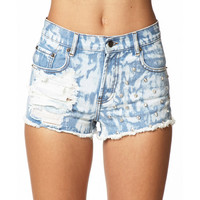 Bleached Denim Cut Offs