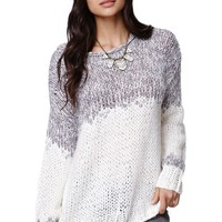 Lush Mixed Yarn Pullover Sweater - Womens Sweater - Off White