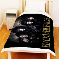 "BLACK VEIL BRIDES Fleece Blanket Bed Throw Ideal Gift Size 50"" x 60"""