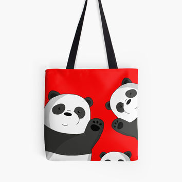 'Cute pandas' Tote Bag by ValentinaHramov
