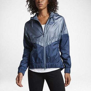 KUYOU Nike Women's Windrunner Jacket (Coastal Blue/Ocean Fog)