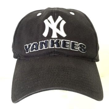 Vintage New York Yankees Hat Baseball Cap NY Black Cotton One Size
