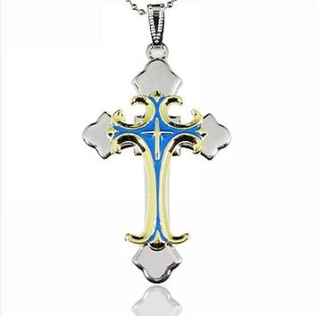 Stainless Steel Bible Cross Necklace Stainless Steel Cross Pendant Necklace Free Shipping