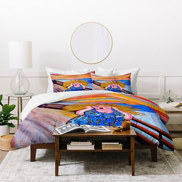 Renie Britenbucher Scream Diva Duvet Cover