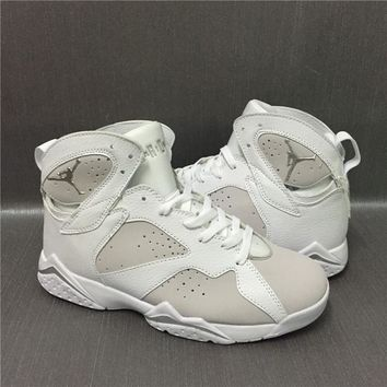 Nike Air Jordan Retro 7 Pure Money White Metallic Silver With Box Best Quality Basketball Shoes