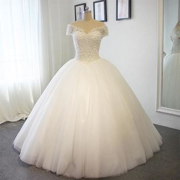 Full Pears Ball Gown Wedding Dress