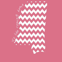 Custom Mississippi Chevron Comfort Color Short Sleeve T-shirt. Show Your state pride and state love